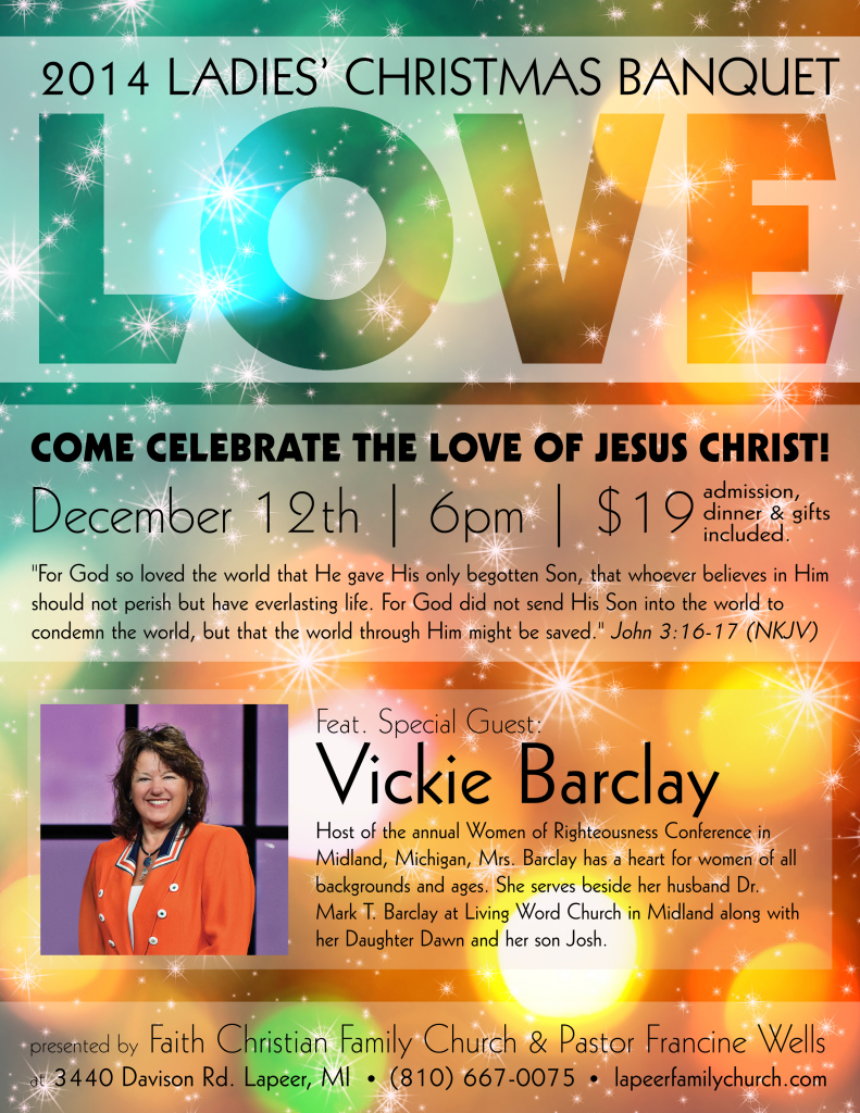 Ladies' Christmas Banquet 2014  with Mrs. Vickie Barclay